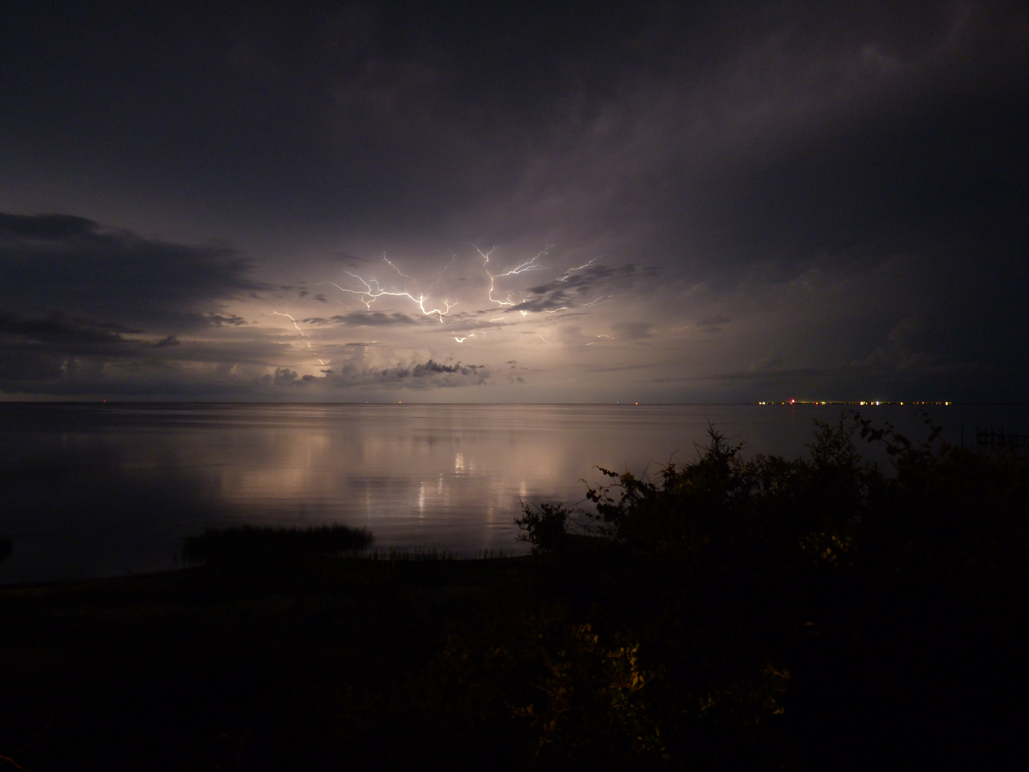 Lightning over the Pamlico Sound