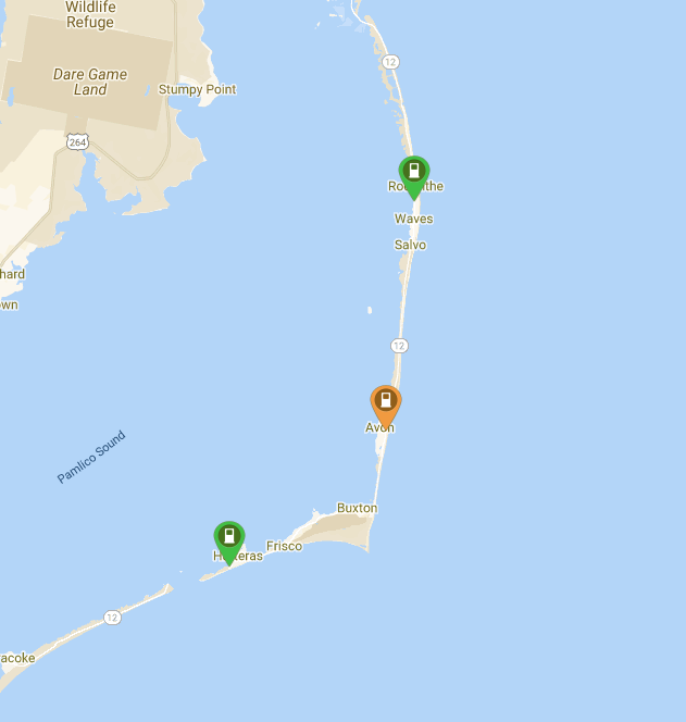 Public Charging Stations on Hatteras Island